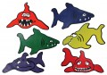 Poly Sharks, Set of 6