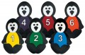 Penguins with Numbers, Set of 6