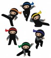 Poly Ninja Warriors, Set of 6