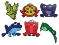 Poly Frogs, Set of 6