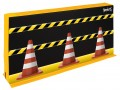 "Divider Wall Section with Traffic Cone Graphic, 26"" x 60"" x 6"""