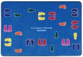 "Feet Everywhere Carpet Mat, 48"" x 71"""