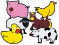 Farm Animals, Set of 6