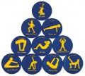 Fitness Spots, Set of 10